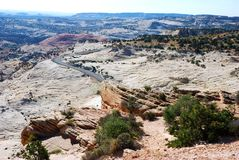 Colorful rock and sandstone formations in Capitol Reef National park. Wonderful rock formations in Capitol Reef National Park, Colorado Plateau, Waterpocket-Fold stock photography