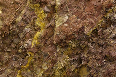 Colorful Rock Texture. Colorful soil/rock/stone texture found inside the sacred city of Pachacamac, where the famous Incan temple of the sun and pyramid are Stock Photos