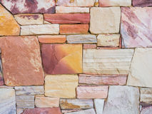 Colorful Rock Wall Background Stock Photography