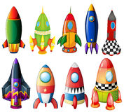 Colorful rockets Stock Image