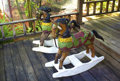 Colorful rocking horse Royalty Free Stock Images