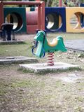 Colorful rocking springy  horse chair Stock Photos
