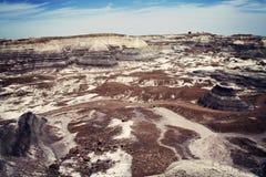 Colorful rocks of badlands in Arizona Royalty Free Stock Image