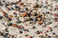 Colorful rocks on a Baltic sea beach, summer time. Stock Photos