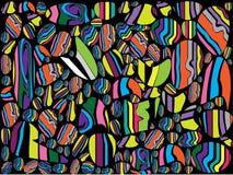 Colorful of rocks on black background. With illustration royalty free illustration