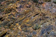 Colorful rocks formations. Close up view royalty free stock photo