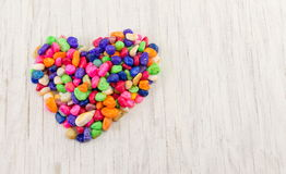 Colorful rocks forming a heart shape Stock Photo