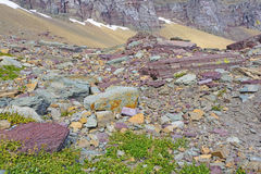 Colorful Rocks in a Scree Field Royalty Free Stock Photos