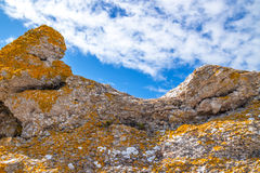 Colorful rocks on under blue sky Royalty Free Stock Photography