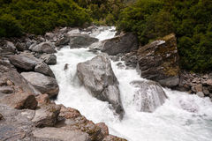 Colorful Rocks in White Water Stock Photo
