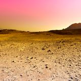 Colorful Desert in Israel. Stock Photos