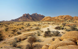 Colorful rocky landscape in Spitzkoppe Royalty Free Stock Photography