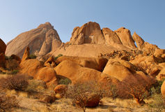 Colorful rocky landscape in Spitzkoppe Stock Images