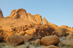 Colorful rocky landscape in Spitzkoppe Stock Photo