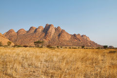 Colorful rocky landscape in Spitzkoppe Stock Photos