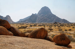 Colorful rocky landscape in Spitzkoppe Stock Photography
