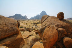 Colorful rocky landscape in Spitzkoppe Royalty Free Stock Photos