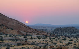 Colorful rocky landscape in Spitzkoppe Namibia Stock Images