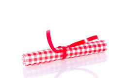 A colorful rolled napkin Royalty Free Stock Photography