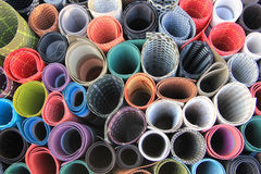 Colorful Rolled table mats royalty free stock photos