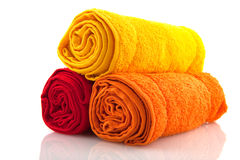 Colorful rolled towels Royalty Free Stock Photos