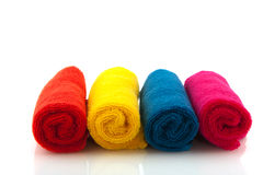 Colorful rolled towels Royalty Free Stock Photo