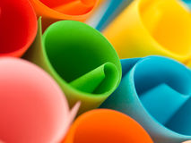 Colorful rolled up paper Stock Photos