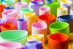 Colorful Rolled up Pieces of Paper Royalty Free Stock Image