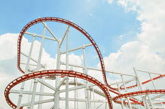 Colorful roller coaster Stock Photography