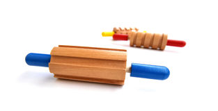 Colorful rolling pins Royalty Free Stock Photos