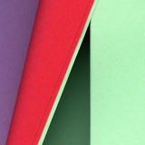 Colorful rolls of paper. Colorful rolls of different colored textured paper royalty free stock photo