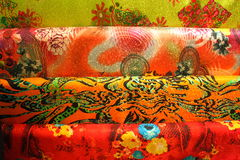 Colorful rolls of silk Beijing China Royalty Free Stock Photography