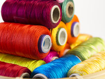 Colorful rolls of thread. Royalty Free Stock Image