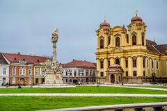 Colorful Romanian Buildings royalty free stock photos
