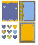 Colorful romantic background and hearts collection Royalty Free Stock Image