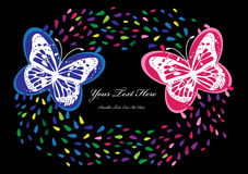 Colorful romantic butterflies background Royalty Free Stock Photography