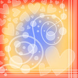 Colorful romantic hearts background Royalty Free Stock Photos