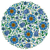 Colorful romantic round pattern with  flowers. Stock Image