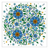Colorful romantic round pattern with flowers. Royalty Free Stock Photography