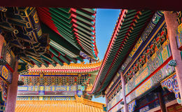 Colorful roof of Chinese temple, public temple Stock Image