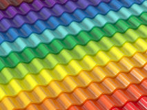 Colorful roof Royalty Free Stock Photography