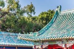 Colorful roof of the Koxinga Shrine in Tainan. Taiwan royalty free stock photos