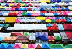 Colorful roof of local market Stock Photo