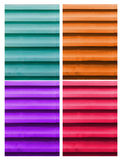 The Colorful roof metal Royalty Free Stock Photo