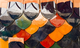Colorful roof tile Stock Photo