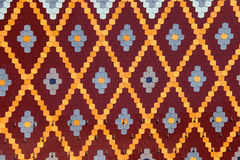 Colorful roof tile pattern Royalty Free Stock Photography
