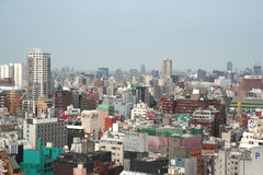 Colorful roof tops at the Crowded Shinjuku District Royalty Free Stock Photography