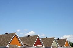 Colorful roofs. With blue sky Royalty Free Stock Image