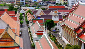 Colorful roofs of Bangkok palace Stock Photos