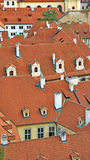 Colorful roofs in the Little Quarter in Prague Royalty Free Stock Photography
